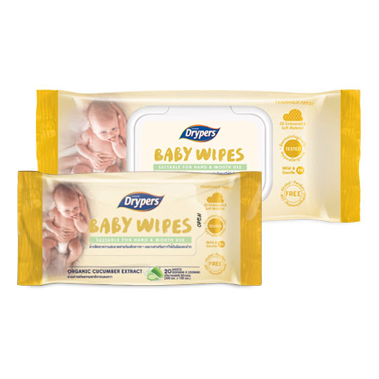 Drypers Baby Wipes (Hand & Mouth)