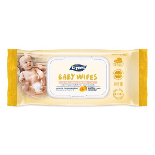 Drypers Baby Wipes Helps Reduce Irritation
