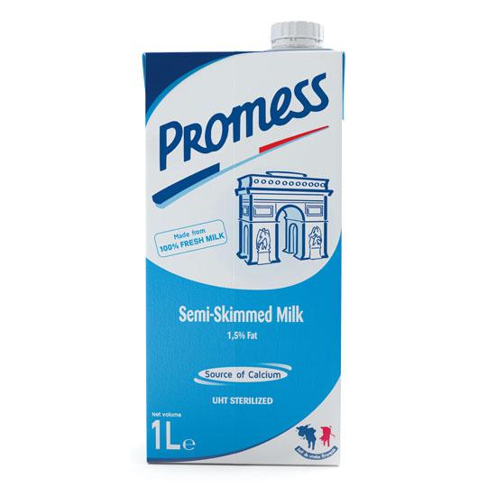 Promess Semi-Skimmed Milk 1L