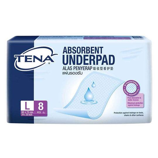Tena Absorbent Under-pad L 8's